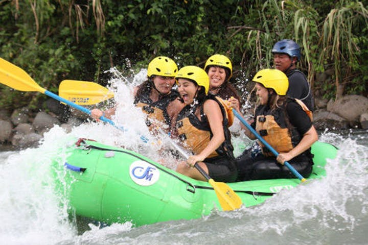 people white water rafting