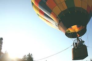 launching a hot air balloon