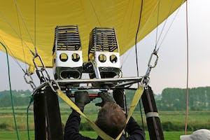a hot air balloon pilot in training