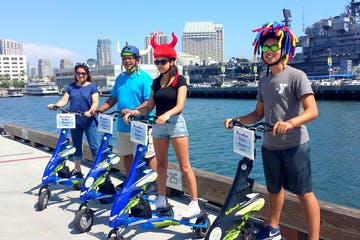 san diego harbor with trike tours