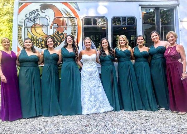 Wedding, Bride with her bridesmaid