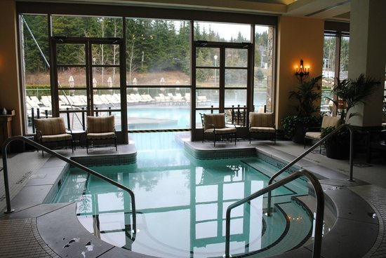 An indoor pool at the Whistler Fairmont