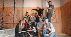 Group events at Forged Axe throwing