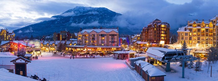 A picture of whistler village