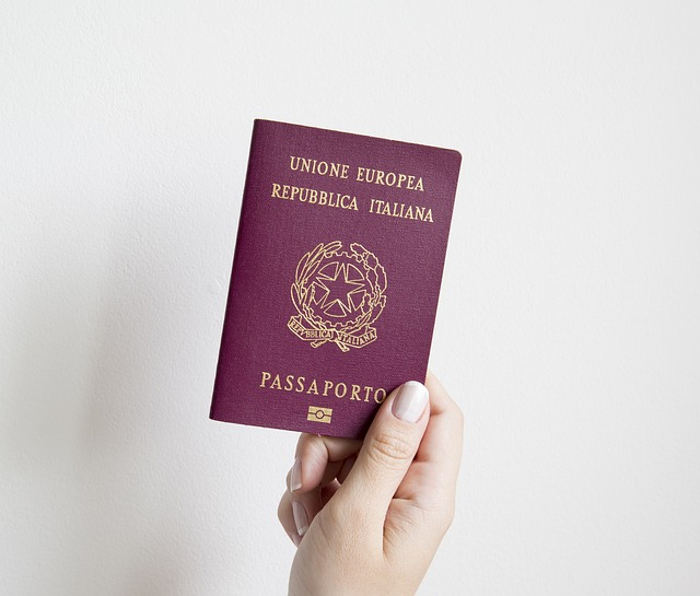 A person holding up a Passport
