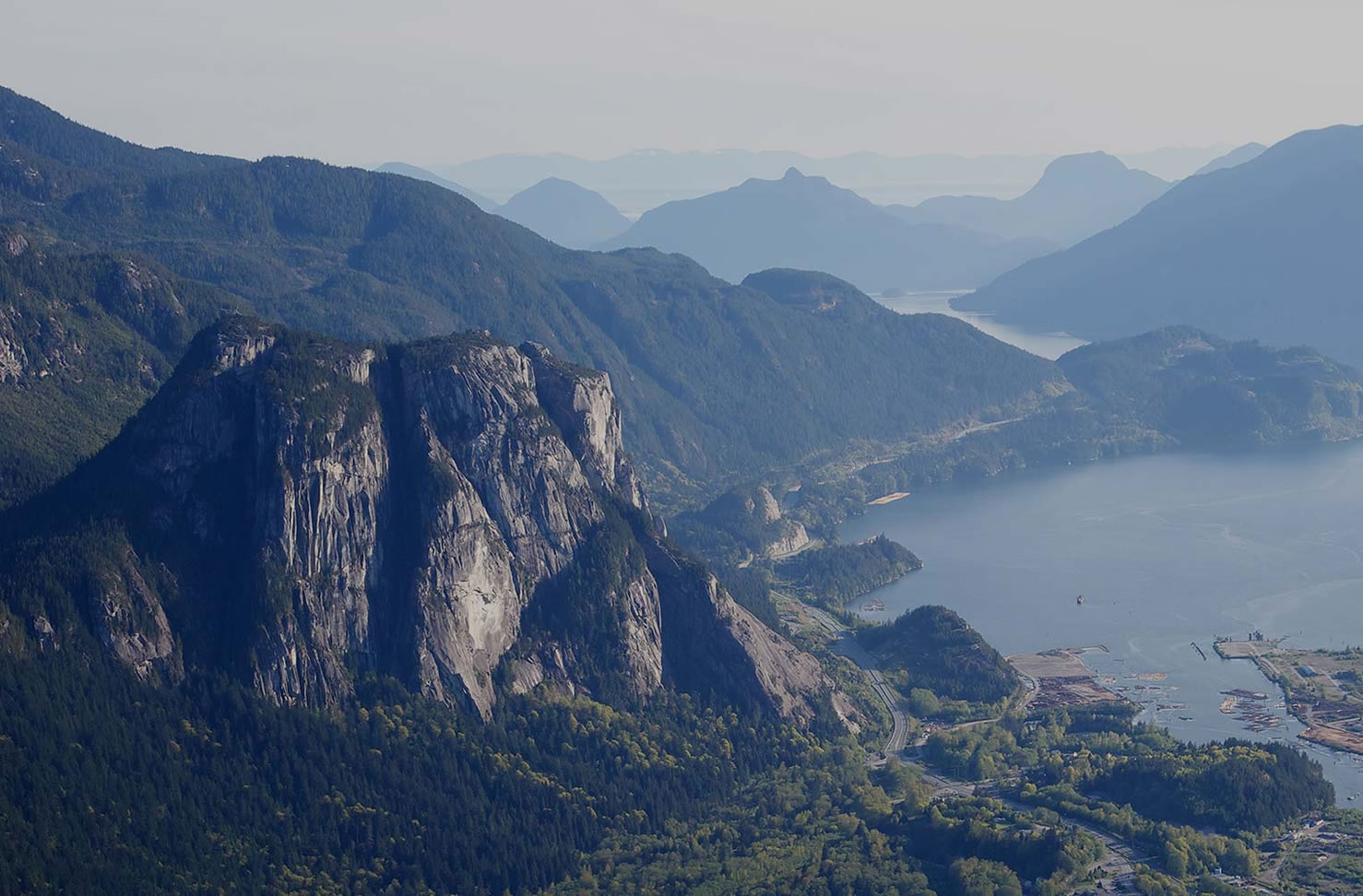 View of the Squamish howe sound