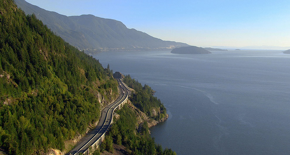 A view on the Sea-to-sky highway