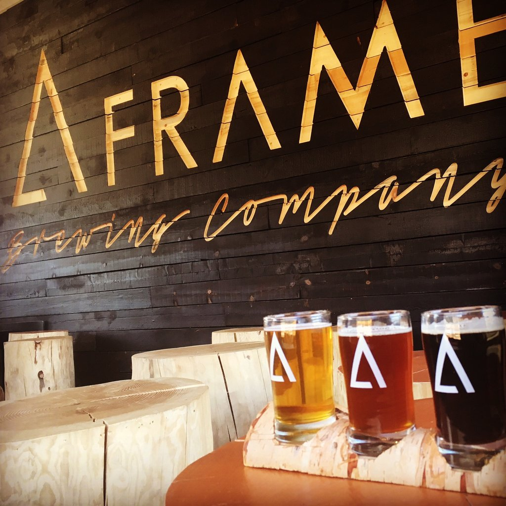 A view inside A-frame Brewing