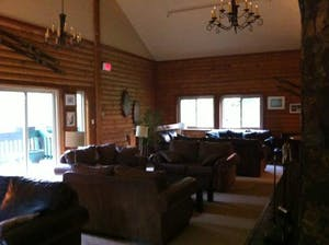 Common area of the Fireside Lodge