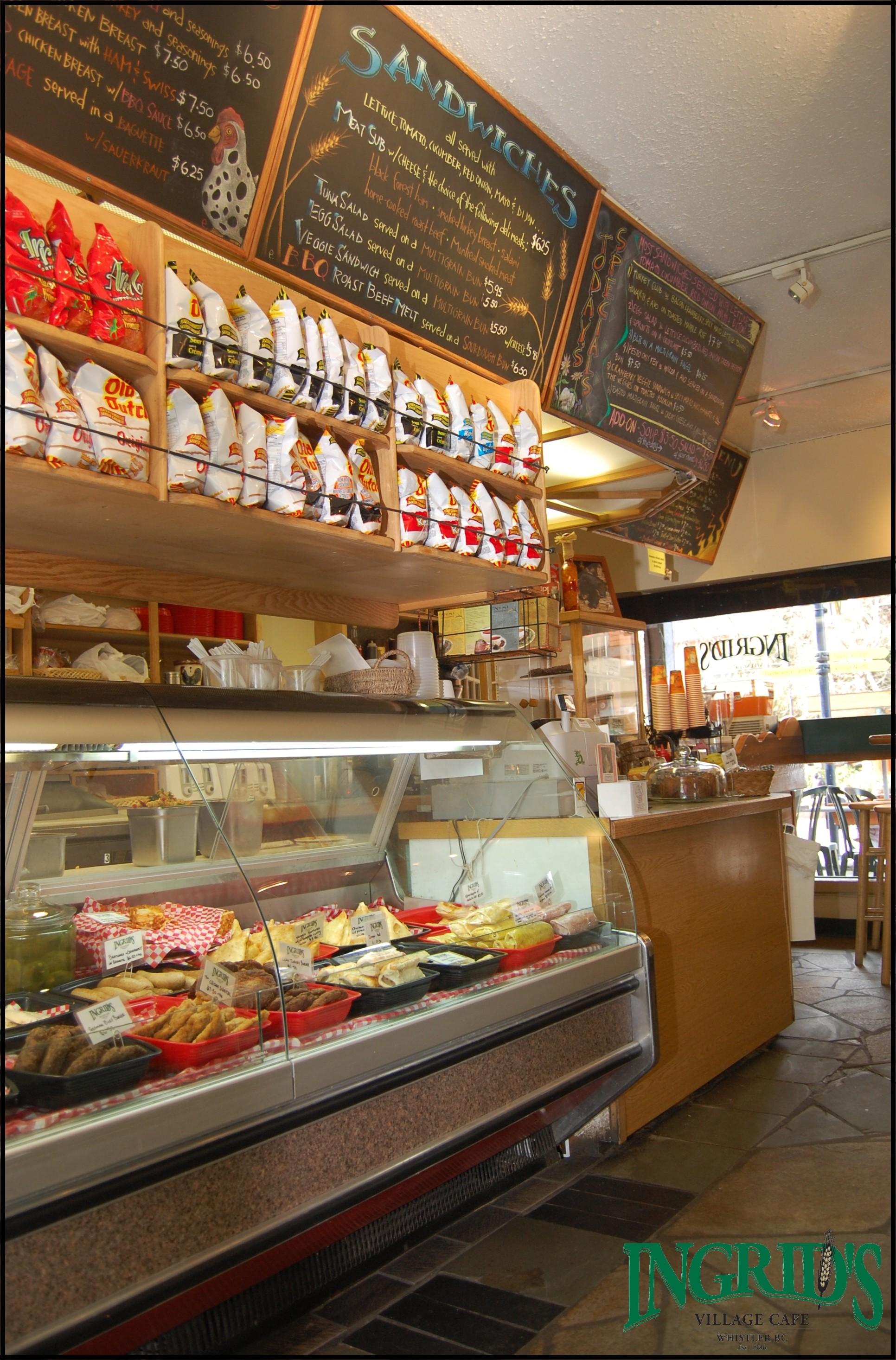 Inside if Ingrid's cafe