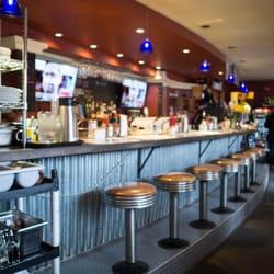 seating at the bar at Southside Diner