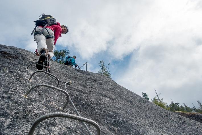 Climber on a backcountry trail
