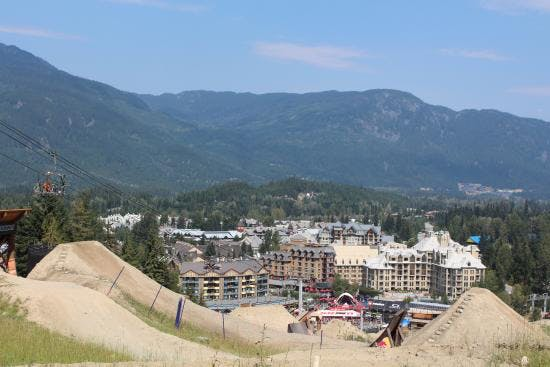 Looking down towards the Village from Whistler Mountain