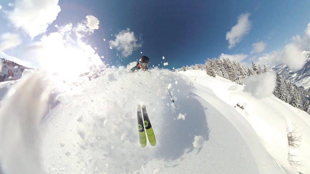 skier on a mountain of snow