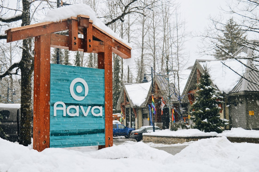 Signage for Whistler Aava