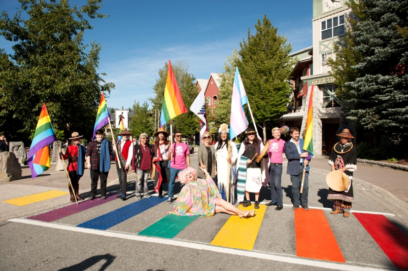 Rainbow crosswalk Whistler