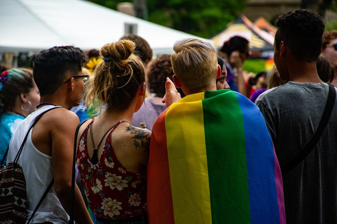 Image of people celebrating pride