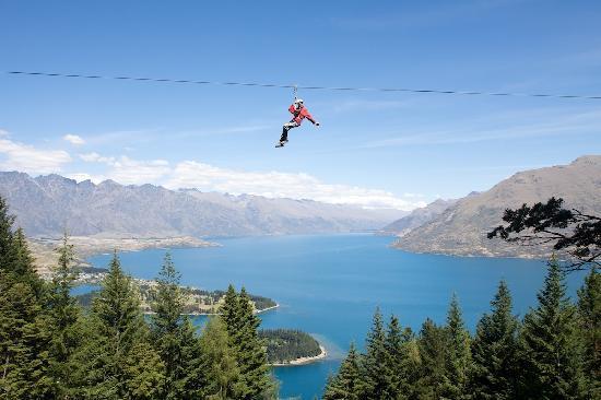 Ziptrek zipline over mountains