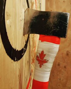 Axe Decorated with Canadian Flag in Target