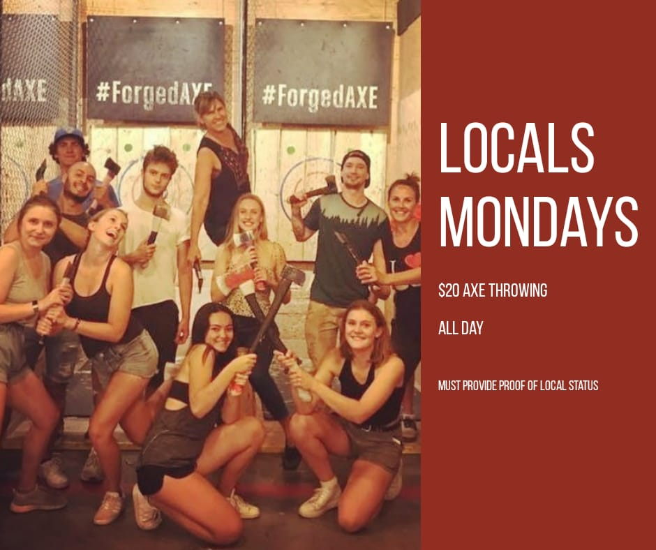Monday's Locals Night At Forged Axe Throwing