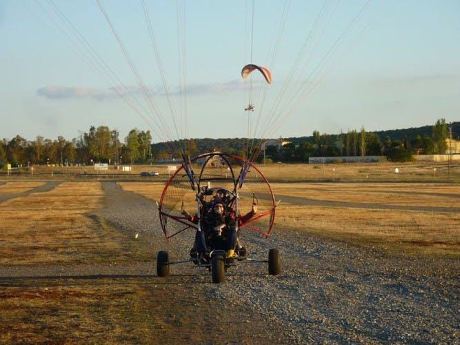 vuelo paramotor extremadura