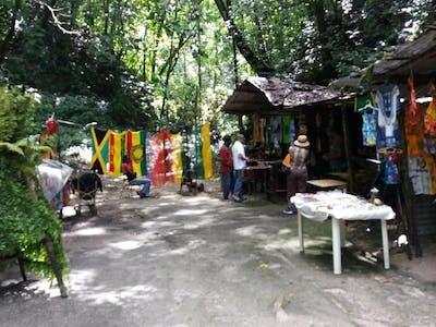 Souvenir stores with tourist around