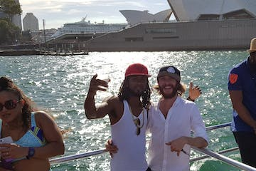 two guys in front of opera house in Sydney