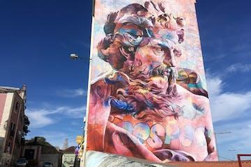 Street Art on building in Lisbon