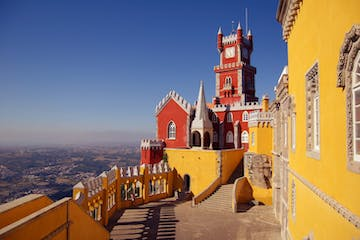 View of a yellow building in Sintra