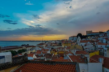 View of the roofs in Lisbon
