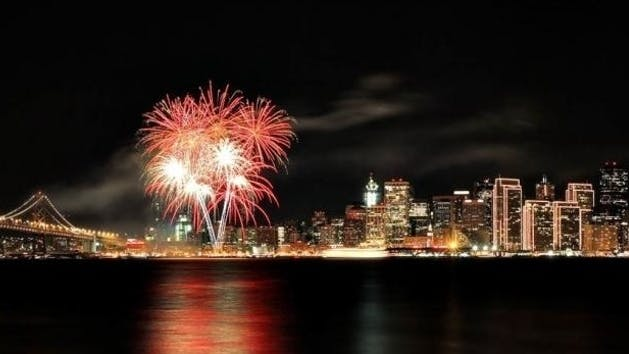 New Years Eve fireworks cruise