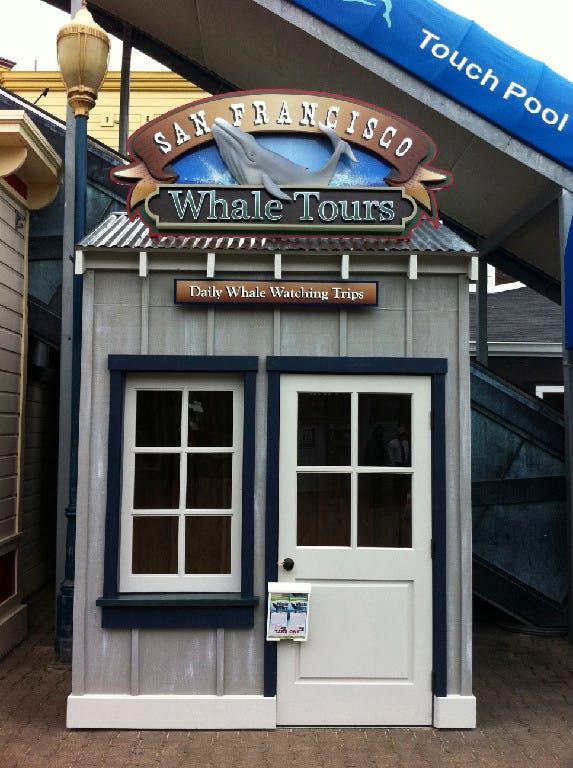 sf whale tours kiosk