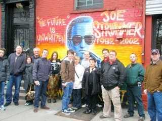 Group tour with Joe Strummer mural
