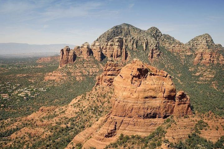 panoramic photo of the colorado plateau in Sedona's red rocks