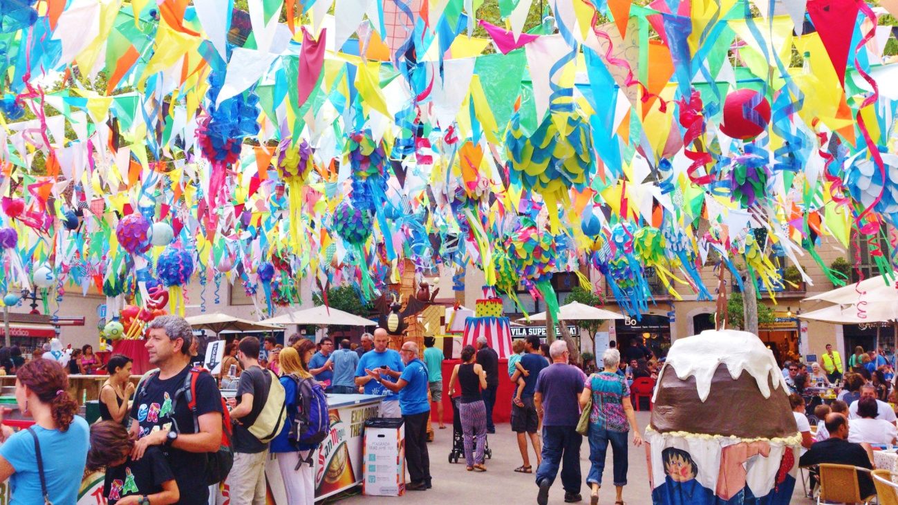 Fiesta mayor de Gracia 2015, Barcelona, Catalunya, Spain