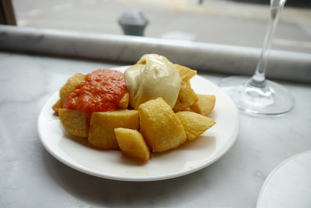 Patatas Bravas are essential when drinking and eating in Barcelona!