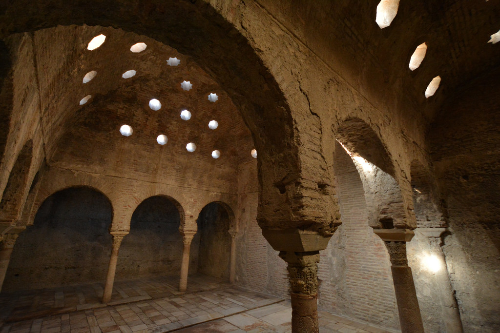 The Arab baths are one of the many things to do in Granada!