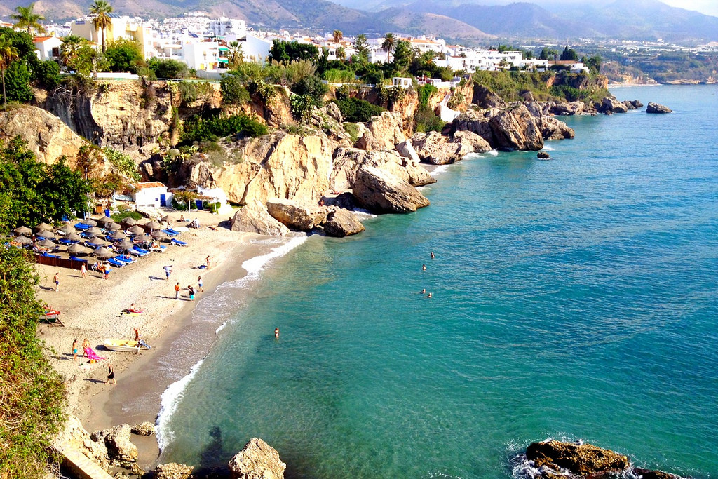 Nerja's beautiful beaches make it one of the greatest day trips from Malaga!