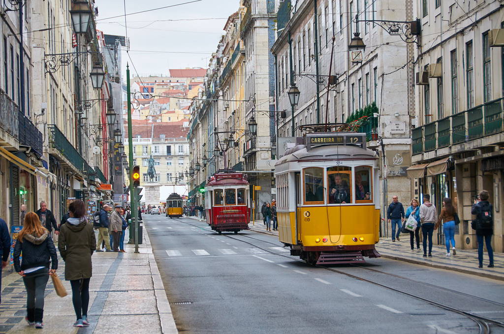 Visit Lisbon in the winter and you'll notice much smaller crowds.