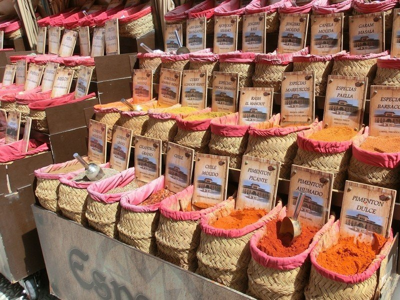 Stock up on spices at the market when you visit Granada!