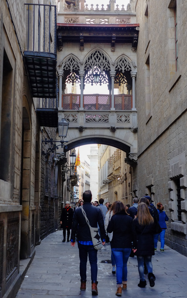Gothic Quarter Barcelona is known for its incredible architecture!