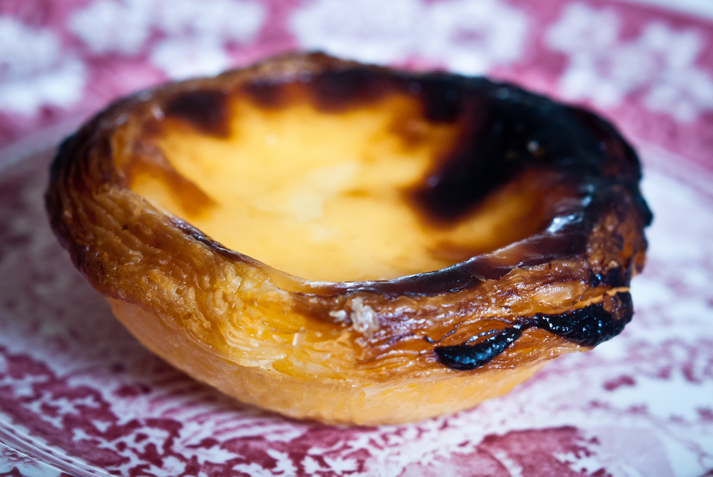 Pasteis de belem are a traditional food in Lisbon that are a perfect snack or dessert!