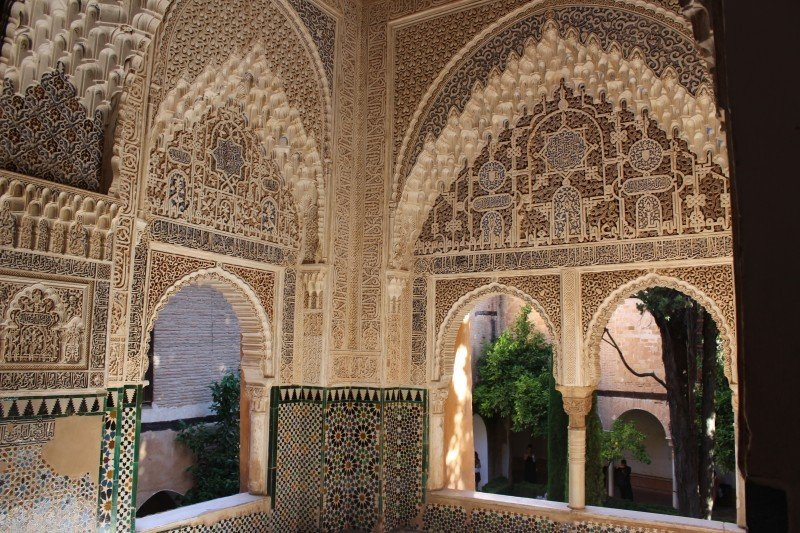 The Alhambra of Granada is a a perfect example of Moorish architecture!