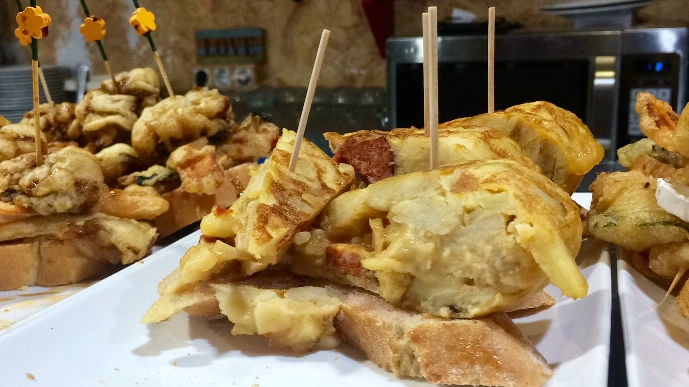 Tortilla de patatas in the king of vegetarian tapas!