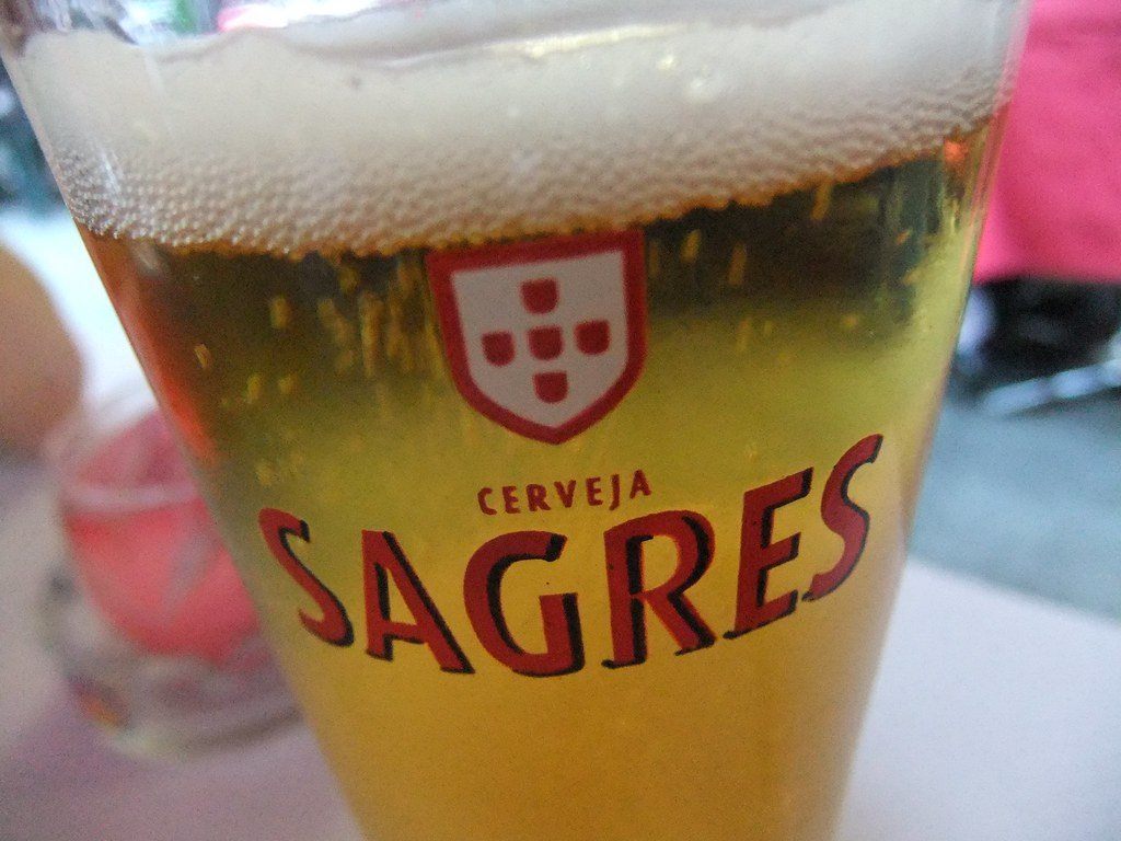Sagres beer is one of the best drinks in Portugal on a hot day