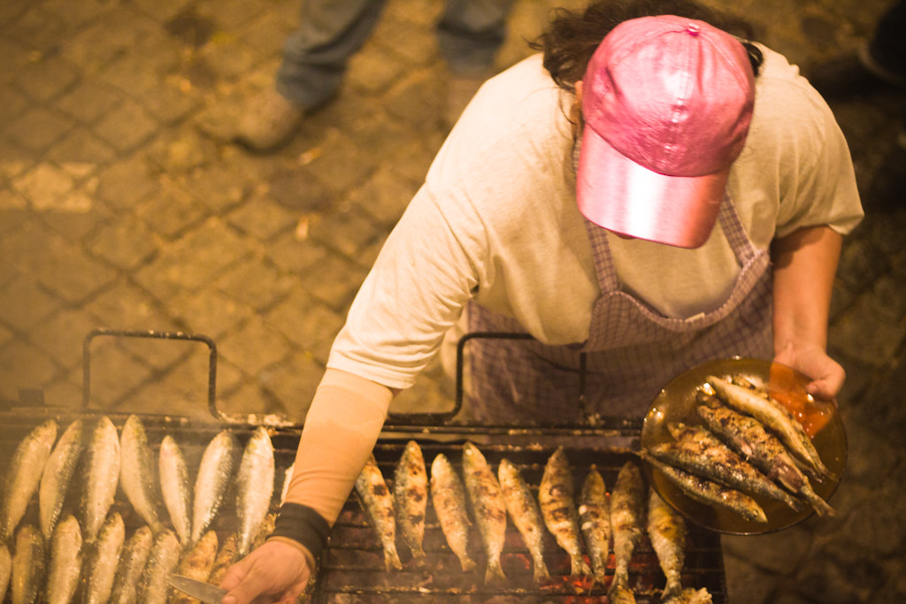 Sardinhas are examples of the best food in Lisbon!