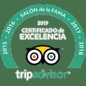 TripAdvisor Certificate of Excelence