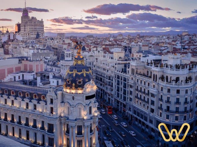 VIew from the Círculo de Bellas Artes in Madrid