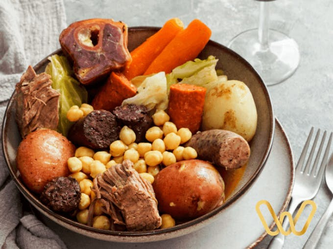 Madrid stew as part of typical Madrid gastronomy