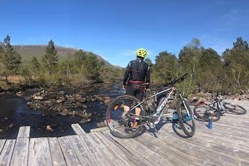 biker near a lake